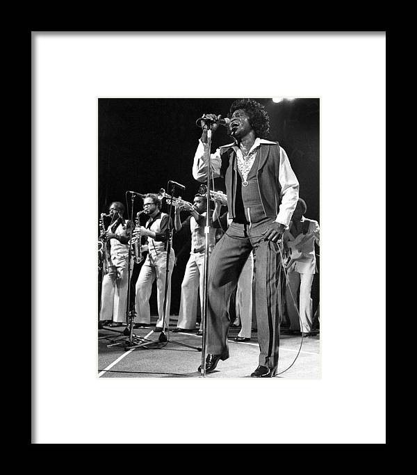 1980-1989 Framed Print featuring the photograph The Godfather Of Soul James Brown by New York Daily News Archive