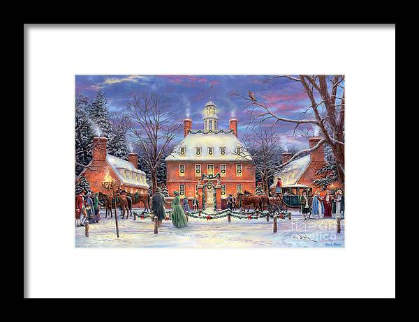 Williamsburg Framed Print featuring the painting The Governor's Party by Chuck Pinson