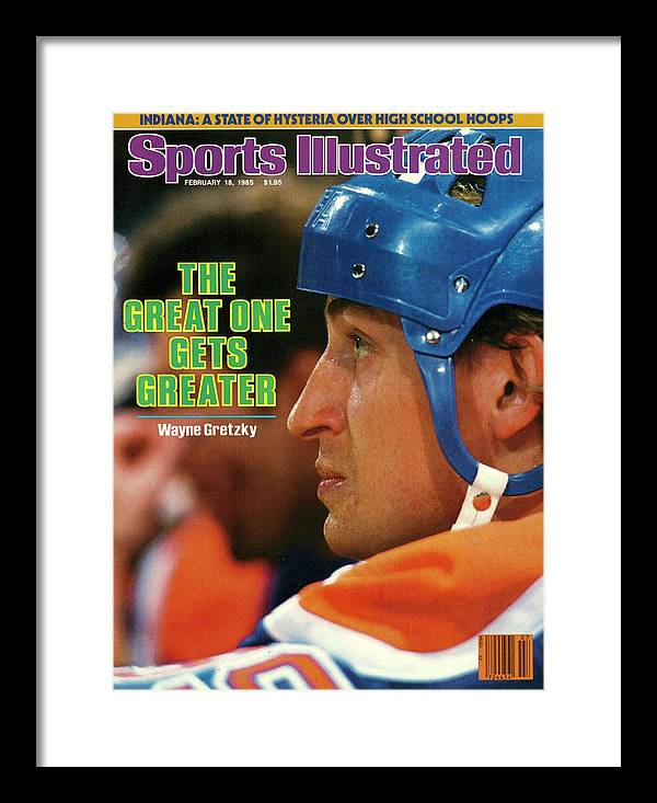 Magazine Cover Framed Print featuring the photograph The Great One Gets Greater Wayne Gretzky Sports Illustrated Cover by Sports Illustrated
