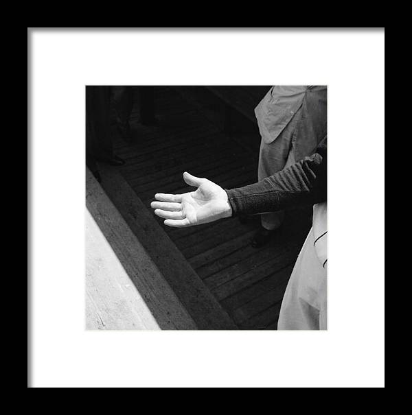 Shadow Framed Print featuring the photograph The Hand Of Ted Williams by Ralph Morse
