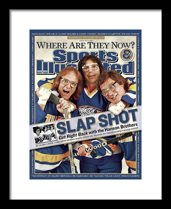 Magazine Cover Framed Print featuring the photograph The Hanson Brothers Sports Illustrated Cover by Sports Illustrated