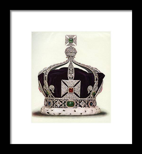 Crown Framed Print featuring the photograph The Imperial Crown Of India by Graphicaartis