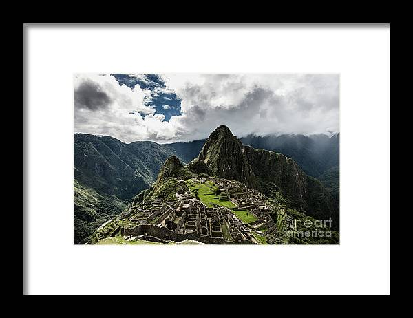 Scenics Framed Print featuring the photograph The Inca Trail, Machu Picchu, Peru by Kevin Huang
