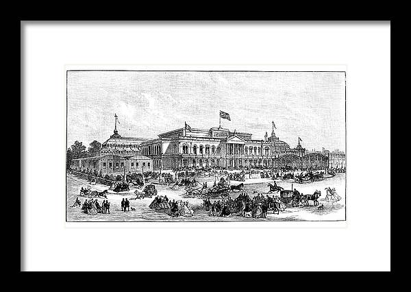 Event Framed Print featuring the drawing The International Exhibition, Dublin by Print Collector
