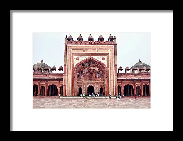 Arch Framed Print featuring the photograph The Jama Masjid Mosque _3940 by Photograph By Howard Koons