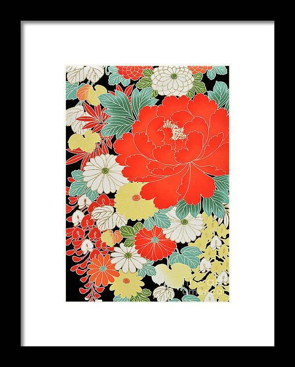 Art Framed Print featuring the photograph The Japanese Kimono, Close by Yagi Studio