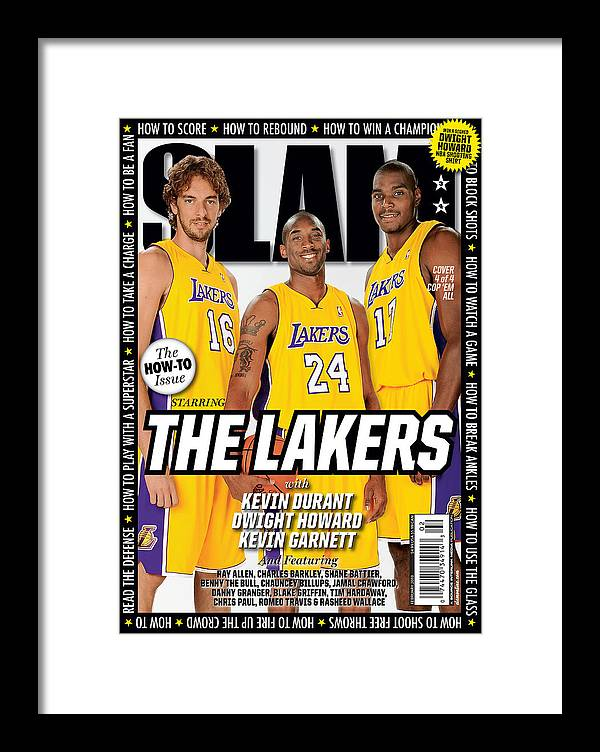 Kobe Bryant Framed Print featuring the photograph The Lakers SLAM Cover by Getty Images