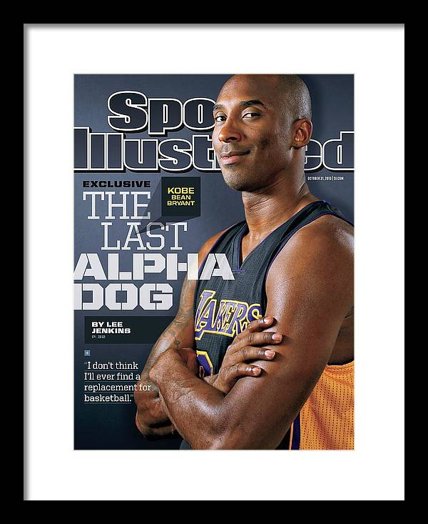 Magazine Cover Framed Print featuring the photograph The Last Alpha Dog Sports Illustrated Cover by Sports Illustrated