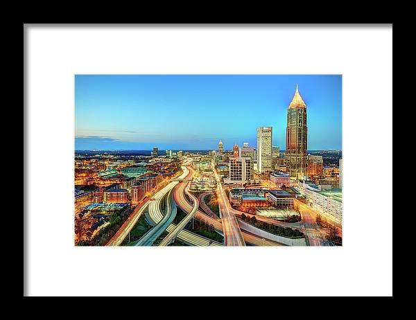 Atlanta Framed Print featuring the photograph The Lifeblood Of Atlanta by Photography By Steve Kelley Aka Mudpig