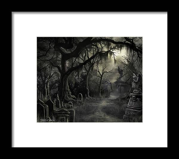 Cemetery Framed Print featuring the painting The Lost Cemetery by James Christopher Hill