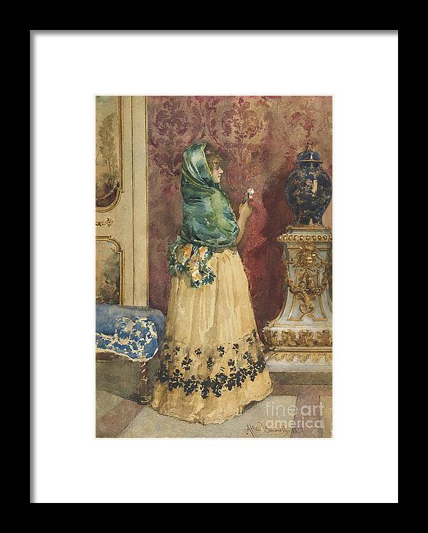 Home Decor Framed Print featuring the drawing The Miniature by Heritage Images