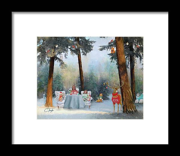 Children Framed Print featuring the mixed media The Mystical Magical Wonders Of The Forest by Colleen Taylor