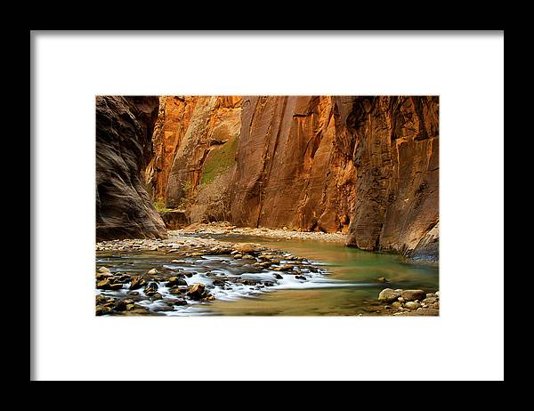 Zion Narrows Framed Print featuring the photograph The Narrows by Beklaus