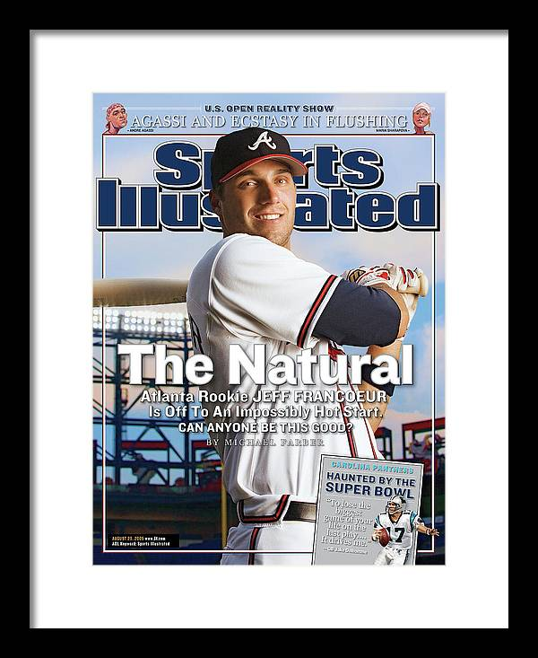 Atlanta Framed Print featuring the photograph The Natural Atlanta Rookie Jeff Francoeur Is Off To An Sports Illustrated Cover by Sports Illustrated