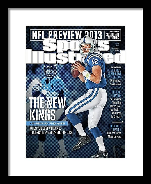 Magazine Cover Framed Print featuring the photograph The New Kings 2013 Nfl Football Preview Issue Sports Illustrated Cover by Sports Illustrated