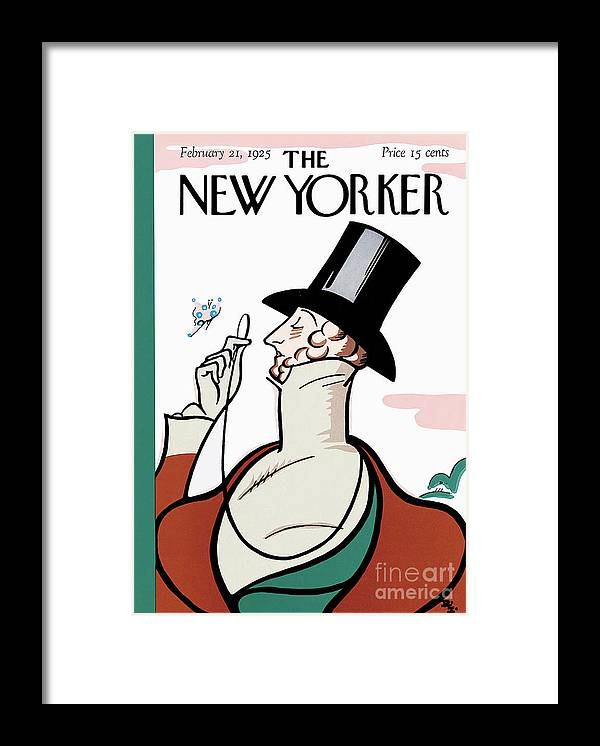 The New Yorker Framed Print featuring the painting The New Yorker - February 21, 1925 by Prar Kulasekara