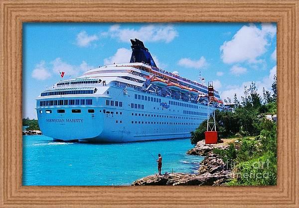 The Norwegian Majesty Arriving In Bermuda by Marcus Dagan