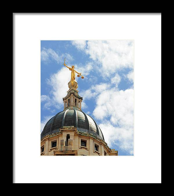 Statue Framed Print featuring the photograph The Old Bailey, Central Criminal Court by Peter Dazeley