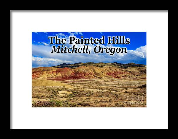 Painted Hills Framed Print featuring the photograph The Painted Hills Mitchell Oregon 02 by G Matthew Laughton