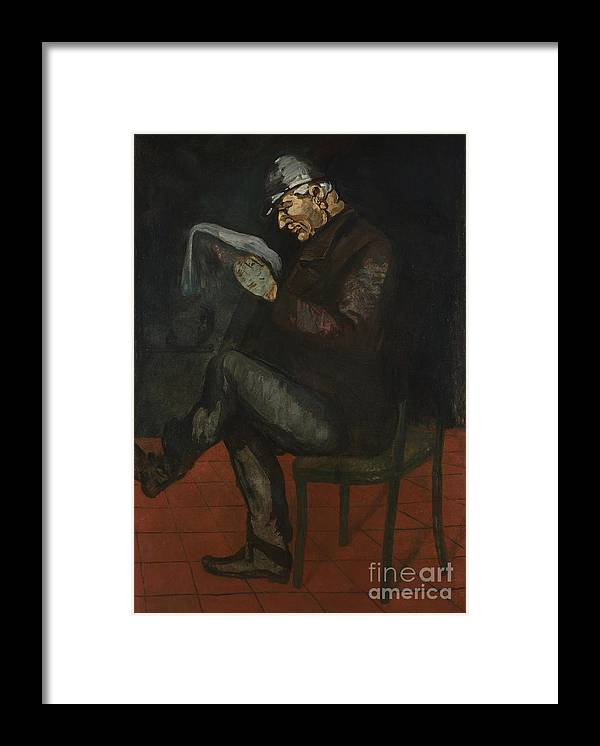Oil Painting Framed Print featuring the drawing The Painters Father, Louis-auguste by Heritage Images