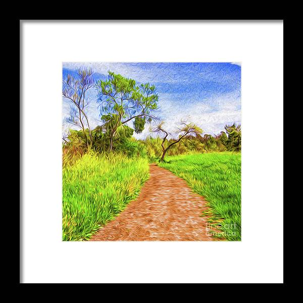 Archival Quality Prints Framed Print featuring the digital art The Path that Lies Ahead by Kenneth Montgomery