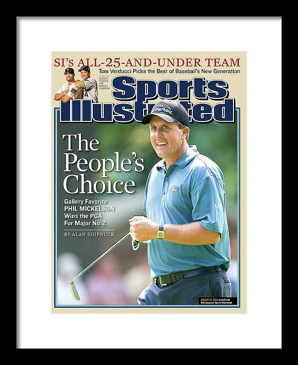 Magazine Cover Framed Print featuring the photograph The Peoples Choice Gallery Favorite Phil Mickelson Wins The Sports Illustrated Cover by Sports Illustrated