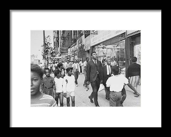 Pied Piper Framed Print featuring the photograph The Pied Piper Of Harlem, Cassius Clay by New York Daily News Archive