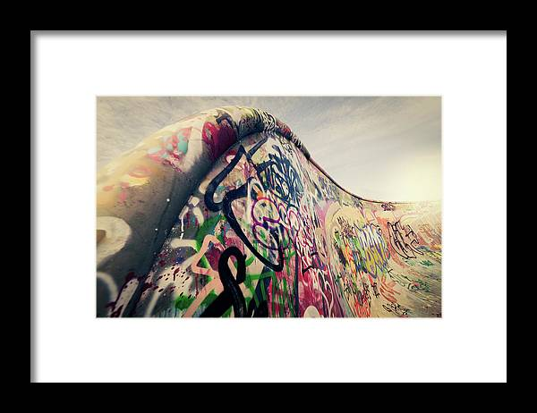Orange Color Framed Print featuring the photograph The Ramp by Ppampicture