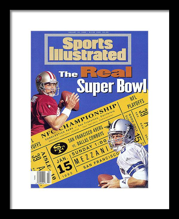 California Framed Print featuring the photograph The Real Super Bowl, 1995 Nfc Championship Preview Sports Illustrated Cover by Sports Illustrated