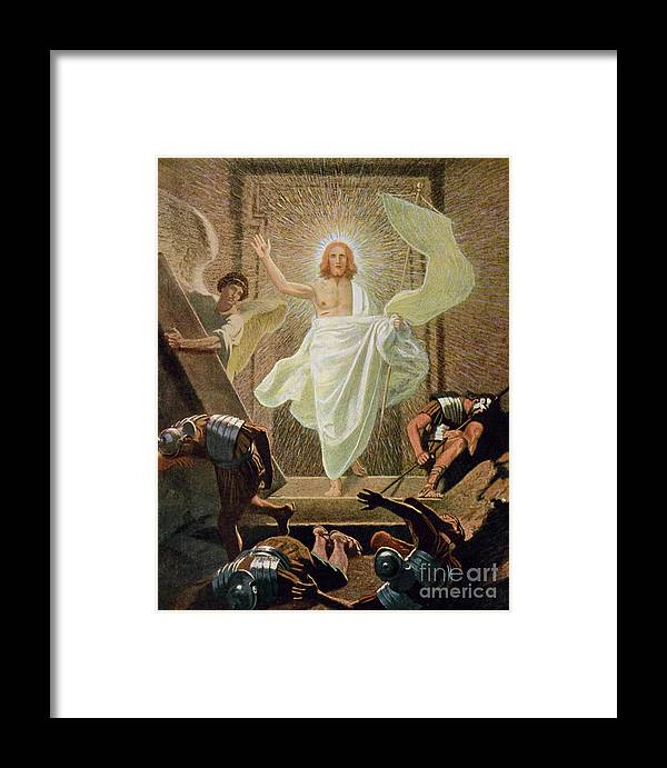 Miraculous Framed Print featuring the painting The Resurrection Of Christ By Gebhard Fugel by Gebhard Fugel