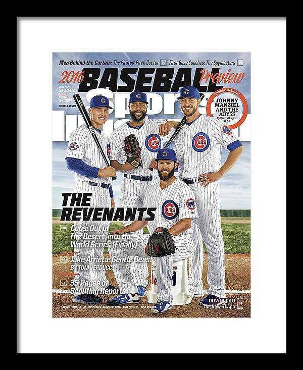 Magazine Cover Framed Print featuring the photograph The Revenants, 2016 Mlb Baseball Preview Issue Sports Illustrated Cover by Sports Illustrated