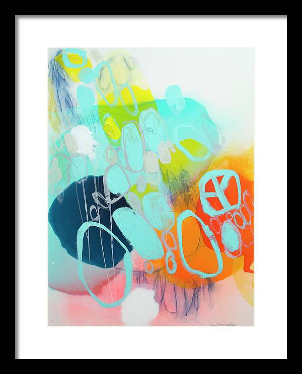 Abstract Framed Print featuring the painting The Right Thing by Claire Desjardins