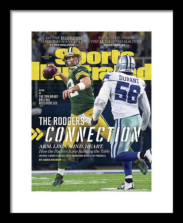 Playoffs Framed Print featuring the photograph The Rodgers Connection Arm. Legs. Mind. Heart. Sports Illustrated Cover by Sports Illustrated
