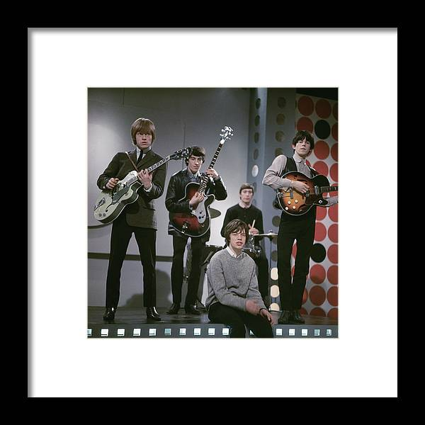 Singer Framed Print featuring the photograph The Rolling Stones by Paul Popper/popperfoto