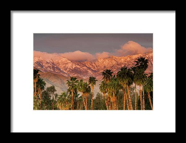 Scenics Framed Print featuring the photograph The San Jacinto And Santa Rosa Mountain by Danita Delimont