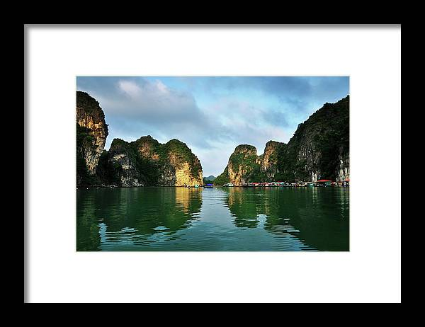 Scenics Framed Print featuring the photograph The Scenic Of Halong Bay by Photo By Sayid Budhi