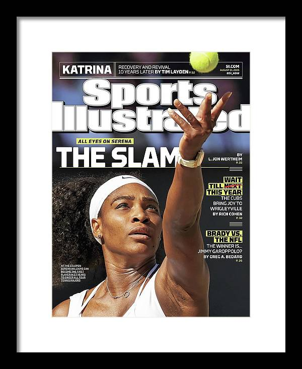 Magazine Cover Framed Print featuring the photograph The Slam All Eyes On Serena Sports Illustrated Cover by Sports Illustrated