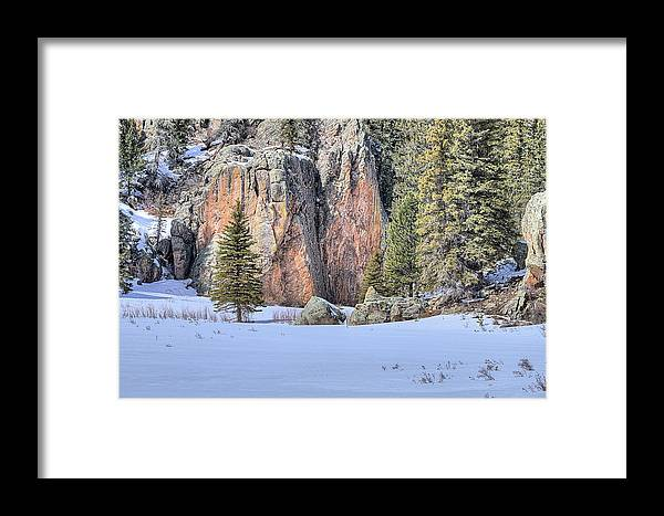 New Mexico Framed Print featuring the photograph The Snowy Meadow by JC Findley