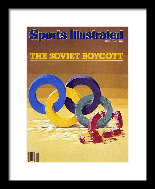 Magazine Cover Framed Print featuring the photograph The Soviet Unions Boycott Of Los Angeles Olympics Sports Illustrated Cover by Sports Illustrated
