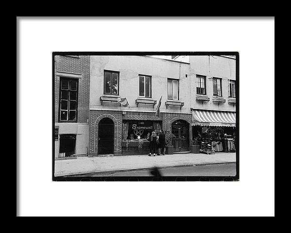 Pedestrian Framed Print featuring the photograph The Stonwall Inn, 1993 by Fred W. McDarrah