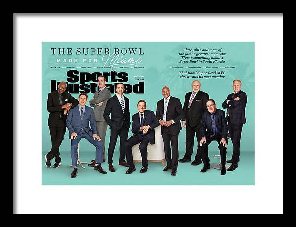 Magazine Cover Framed Print featuring the photograph The Super Bowl Made For Miami Sports Illustrated Cover by Sports Illustrated