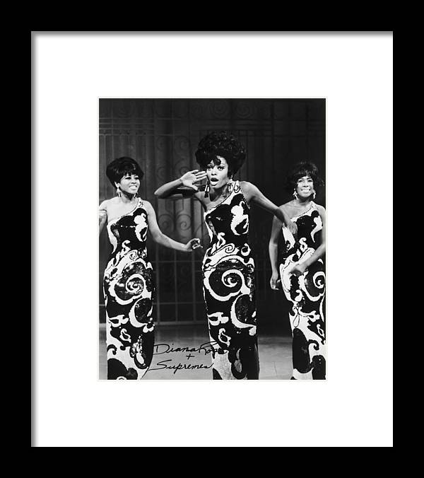 Singer Framed Print featuring the photograph The Supremes by Archive Photos