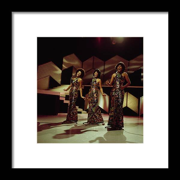 Singer Framed Print featuring the photograph The Supremes Perfom On Tv Show by Tony Russell