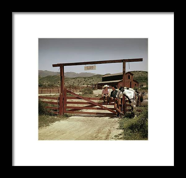 Horse Framed Print featuring the photograph The T-bar Ranch by Tom Kelley Archive