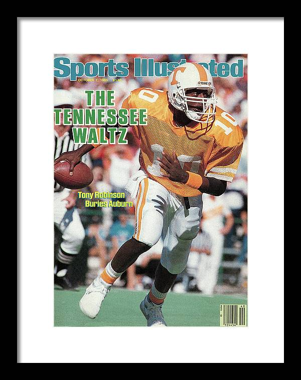 1980-1989 Framed Print featuring the photograph The Tennessee Waltz Tony Robinson Buries Auburn Sports Illustrated Cover by Sports Illustrated
