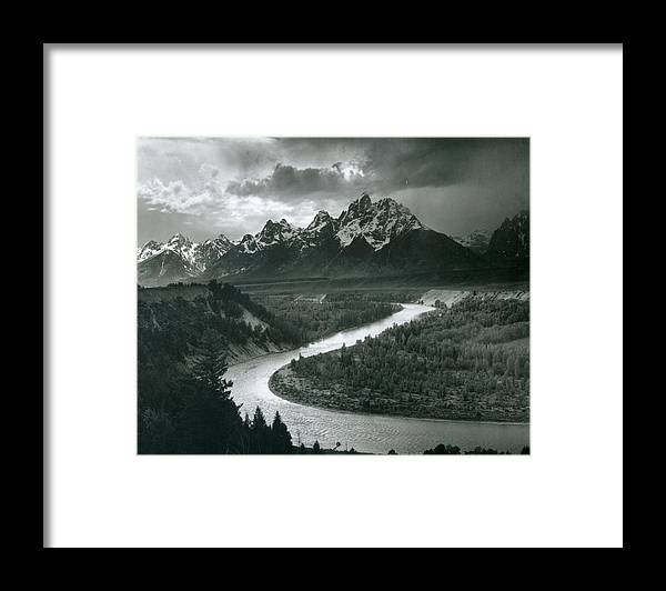 Social Issues Framed Print featuring the photograph The Tetons - Snake River by Archive Photos