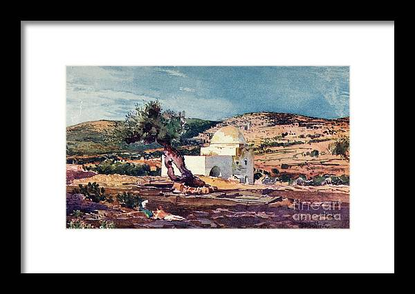 West Bank Framed Print featuring the drawing The Tomb Of Rachel On The Road by Print Collector