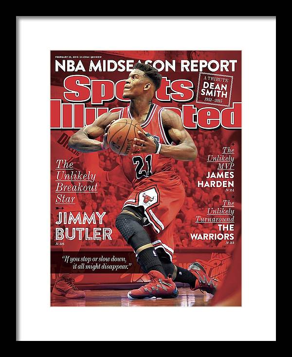 Chicago Bulls Framed Print featuring the photograph The Unlikely Breakout Star Jimmy Butler Sports Illustrated Cover by Sports Illustrated
