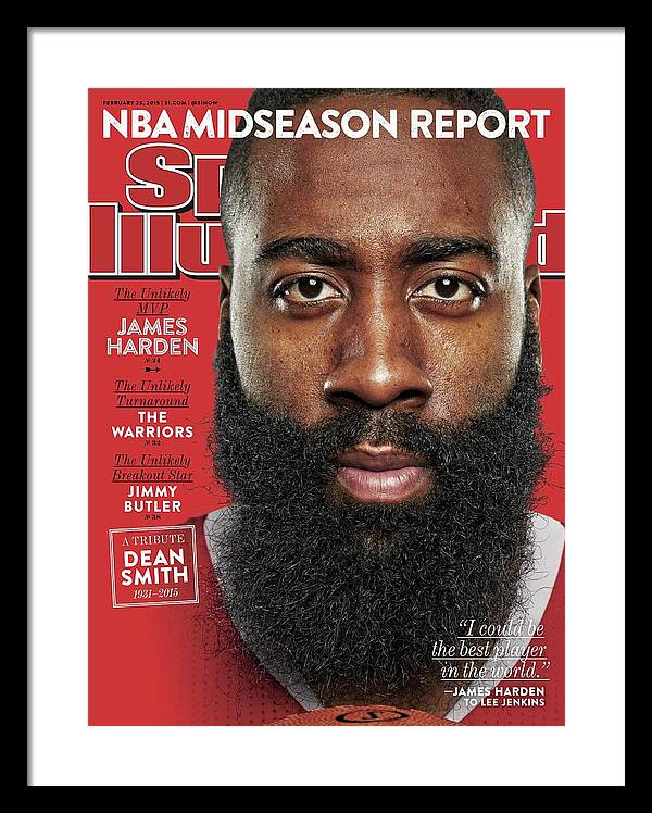 The Unlikely Mvp James Harden Sports Illustrated Cover Framed Print