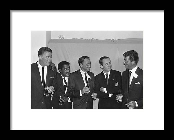 Singer Framed Print featuring the photograph The Usual Rat Pack by Jack Albin